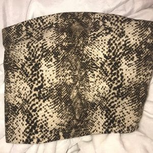 Silence and noise size XS snake skin top